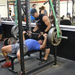 reverse bands bench