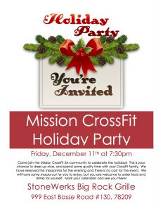 Mission holiday party 2015